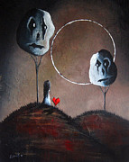 Faces Paintings - I Think We Went The Wrong Way by Shawna Erback by Shawna Erback
