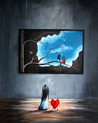 Fantastical Prints - I Think Were Being Followed by Shawna Erback Print by Shawna Erback
