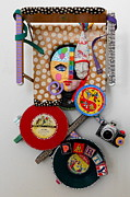 Metal Assemblage Sculpture Posters - I Thought You Said You Wanted To Party Poster by Keri Joy Colestock