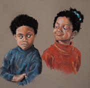 Character Pastels Prints - I Told You So Print by Judy Sprague