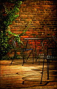 Patio Table And Chairs Posters - I waited for you Poster by Lois Bryan