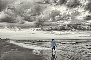 Beach Towel Prints - I Walk Alone Print by Jeff Breiman