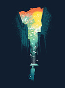 Surreal Digital Art Prints - I want my blue sky Print by Budi Satria Kwan