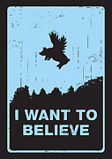 Flying Saucer Posters - I want to believe Poster by Budi Satria Kwan