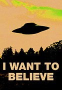 Grays Digital Art - I want to believe by Dan Twyman