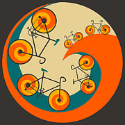 Funky Prints - I Want To Ride My Bicycle Print by Jazzberry Blue
