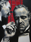The Godfather Painting Posters - I Want You To Kill Him 2013 Poster by Luis Ludzska