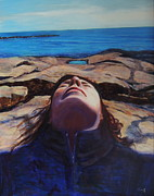 Long Island Paintings - I Was Doing Time In the Universal Mind by Patty Kay Hall