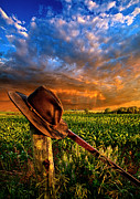 Sun Hat Posters - I Was Here Poster by Phil Koch