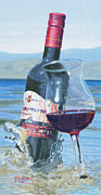 Wine Bottle Paintings - I Was Made to Love You by Will Enns