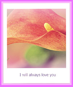 Botanical Flowers Prints - I Will Always Love You Print by Susanne Van Hulst