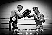 Kickboxing Framed Prints - I will win Framed Print by Chris Black