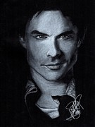 Rosalinda Drawings - Ian Somerhalder by Rosalinda Markle