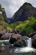 Stream Framed Prints - Iao  Storm Framed Print by Mike  Dawson