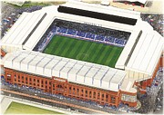 Rangers Paintings - Ibrox - Glasgow Rangers by Kevin Fletcher