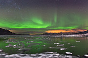 Ice And Auroras Print by Frank Olsen