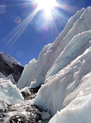 Mt Everest Base Camp Prints - Ice and Sun Print by Tim Hester