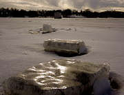 Snow Drifts Photos - Ice Blocks by Jacqueline Athmann
