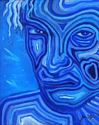 Billy Idol Art - Ice Blue Billy by Steve Fogle