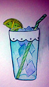 Food Drawings - Ice Cold on a Hot Night by Jaime Lopez