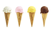 Refreshing Photo Posters - Ice cream in sugar cones Poster by Elena Elisseeva