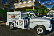 White Truck Framed Prints - Ice Cream Man Framed Print by Paul Ward