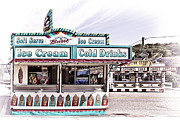 Cotton Candy Festival Art Prints - Ice Cream Stand Print by Marcia Colelli