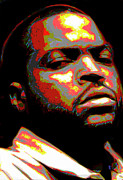 Portraits Digital Art Originals - Ice Cube by Byron Fli Walker