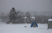 Winter Photos Prints - Ice Fishing Derby 4 Print by Michael Mooney