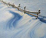 Winter Scene Paintings - Ice Glitter by Kiril Stanchev