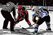 Ice Hockey Digital Art - Ice hockey art by Allen Glass