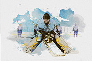 Winter Hockey Framed Prints - Ice Hockey Framed Print by Corporate Art Task Force