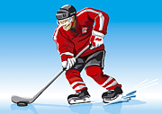 Frank Ramspott - Ice Hockey Player Red