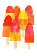 A Hot Summer Day Painting Prints - Ice Lollies Print by Nic Squirrell