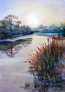Landscape Sculpture Originals - Ice on the Canal by Heather Harman