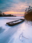 Winter Landscapes Posters - Ice pier III Poster by Davorin Mance