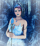 Frosting Digital Art Posters - Ice Princess Poster by Jutta Maria Pusl
