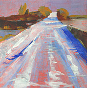Outside Ice Paintings - Ice Road by Nancy Merkle