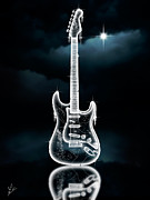 Eric Clapton Digital Art - Ice Rock Guitar by Linton Hart