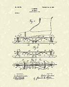 Ice-skating Posters - Ice Skate 1899 Patent Art Poster by Prior Art Design