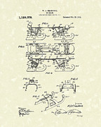 Gift Drawings Framed Prints - Ice Skate 1915 Patent Art Framed Print by Prior Art Design
