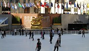 Figure Skating Photos - Ice Skating In Rockefeller Center by Dan Sproul