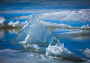 Ice Triangle Print by Inge Johnsson