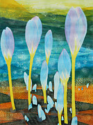 Adel Nemeth Posters - Ice Tulips Poster by Adel Nemeth