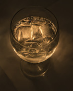 Ice Pyrography Metal Prints - Ice Water by Candle Light Metal Print by Angela A Stanton