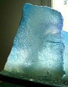 Featured Glass Art - Iceberg Sculpture Detail by Rick Silas