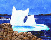 Unique View Digital Art Posters - Icebergs - Unique Shape Bergs - Northern Visitors Poster by Barbara Griffin