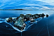 Cracked Stone Prints - Icebound 4 Print by ABeautifulSky  Photography