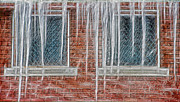 Brick Buildings Mixed Media Prints - Iced Over Print by Steve Ohlsen