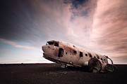 Wreck Photo Prints - Iceland Douglas DC-3 Print by Nina Papiorek